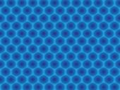 Blue circular cell hypnotic scalable pattern wallpaper poster
