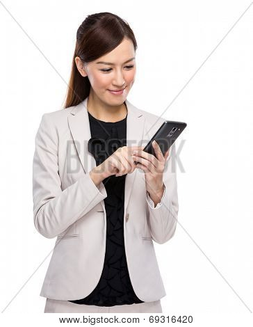 Asian businesswoman use mobile phone