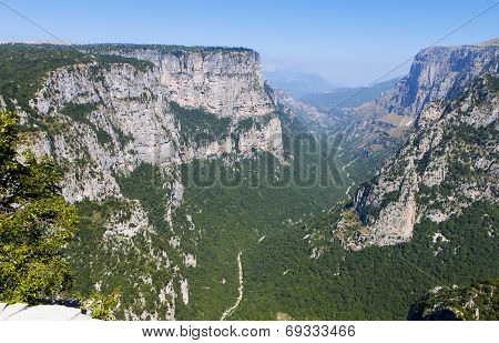 Vikos gorge in Greece