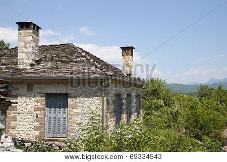 Old village at Zagora in Greece