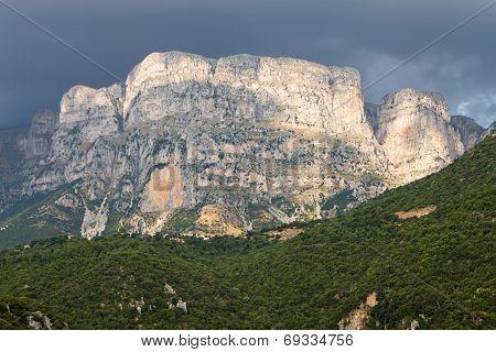Astraka peak at Pindos mountains, Greece