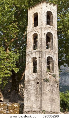 Old stone campanile from Greece