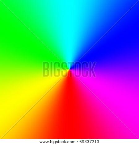 Rainbow Spectral Circle Gradient