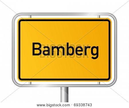 City limit sign Bamberg - signage - Germany