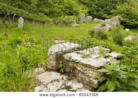 Ruins Of St Andrew's Church, Portland, Uk.