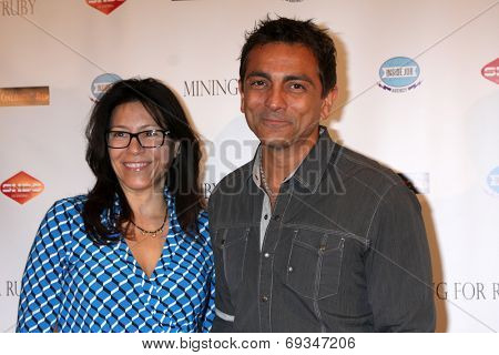 LOS ANGELES - JUL 30:  Kimberly Kumar, Anil Kumar at the