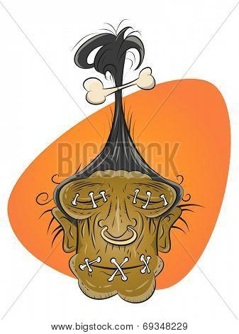 funny cartoon shrinking head