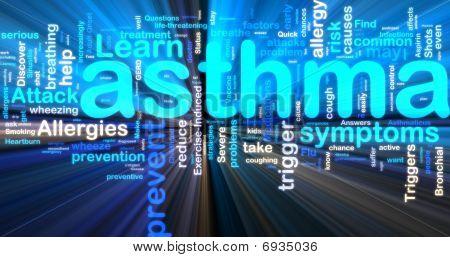 Asthma Wordcloud Glowing