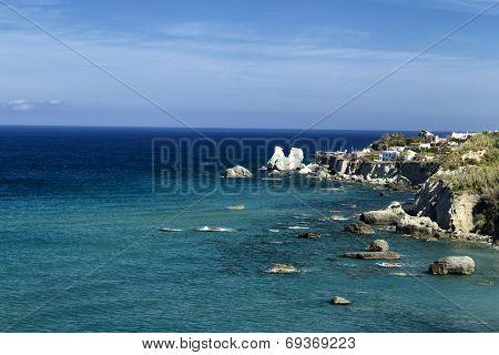 View Of Cava Dell'isola Beach In Ischia Island