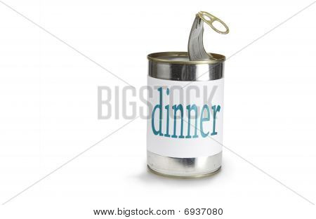 Can With A Dinner Label