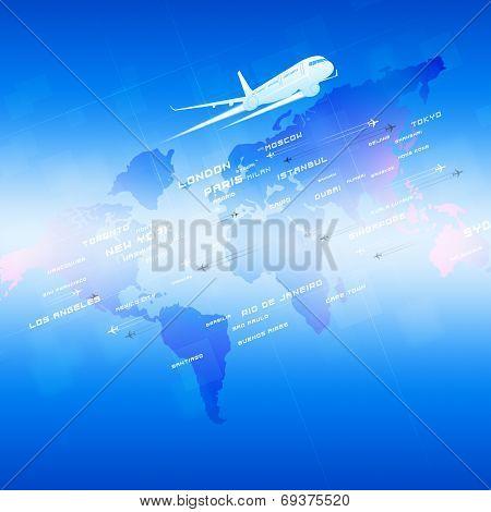 Aviation Blue Background