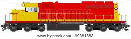 Diesel Electric Railroad Locomotive