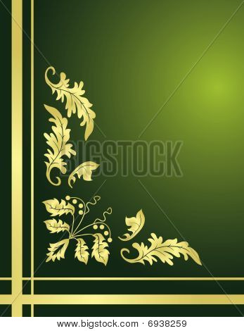 Plant ornament for the angular design