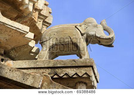 Saluting Stone Elephant