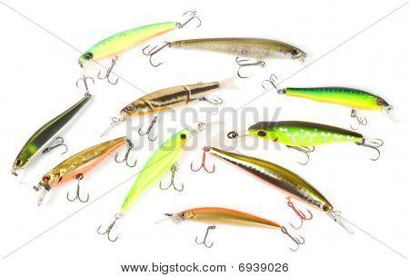 Set Of Plastic Fishing Baits