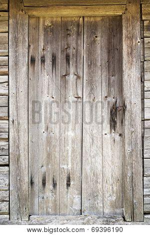 old door in abandoned house