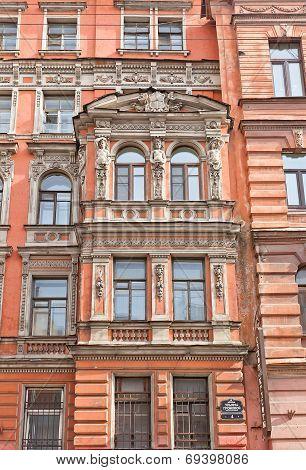 Kraevsky Apartment House (1881) In Saint Petersburg, Russia