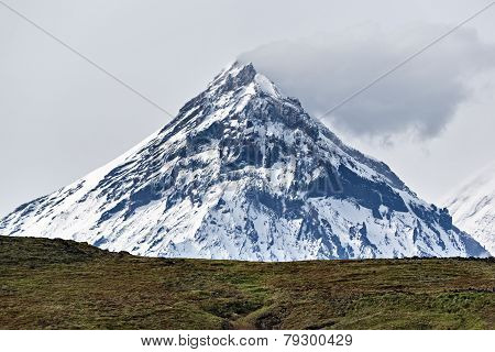 Mountain landscape of Kamchatka: view on Kamen Volcano