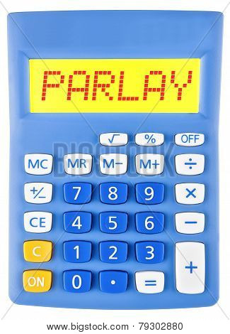 Calculator With Parlay