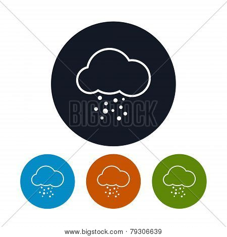 Icon cloud with hail ,   vector illustration