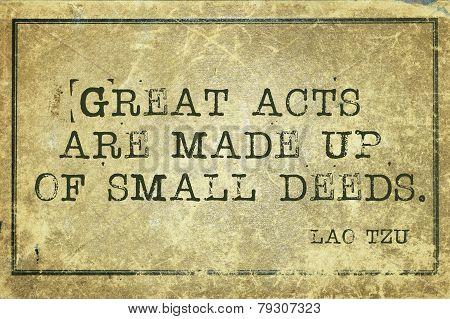 Small Deeds Tzu