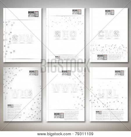 Three dimensional mesh stylish words- seo, web, www, url and other. Brochure, flyer or report for bu