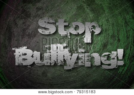 Stop Bullying Concept text on background idea poster