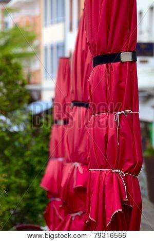 Street Cafe Umbrellas