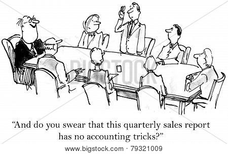 Accounting Tricks in Quarterly Report