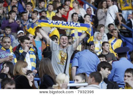 Ukrainian Fans At Ukraine - Lithuania National Teams Match