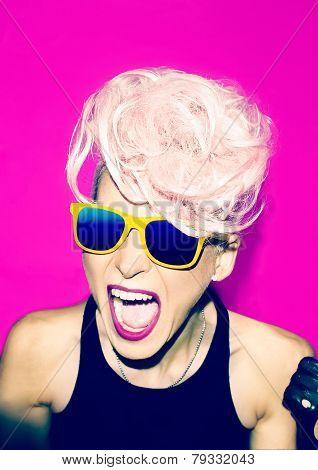 Screaming Girl Disco Punk Fashion Style