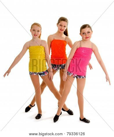 Preteen Jazz Dance Trio