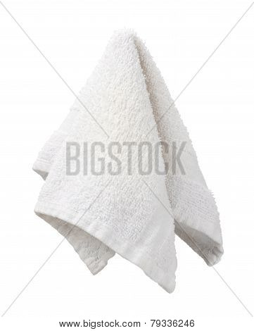 Hanging White Washcloth