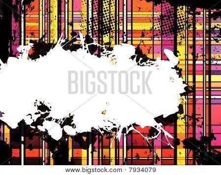 Checkered Yellow and Orange Grunge Background. Editable Vector Illustration