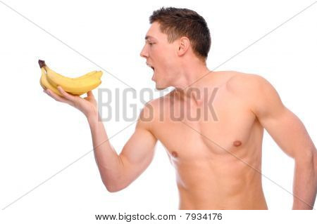 Naked Man With Fruit