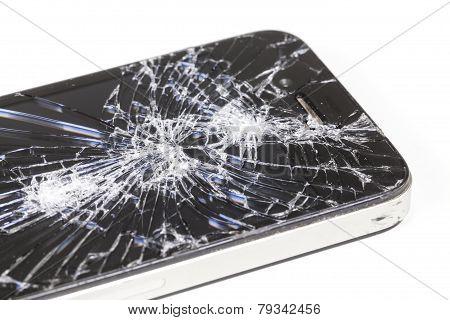 Iphone 4 With Seriously Broken Retina Display Screen
