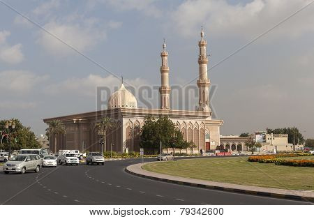 Mosque Imam Ahmad ibn Hanbal is located in the central square of Sharjah poster