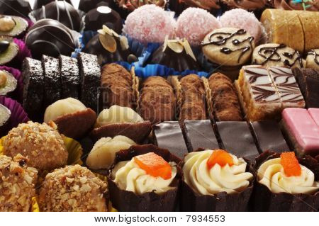 delicious desserts close up