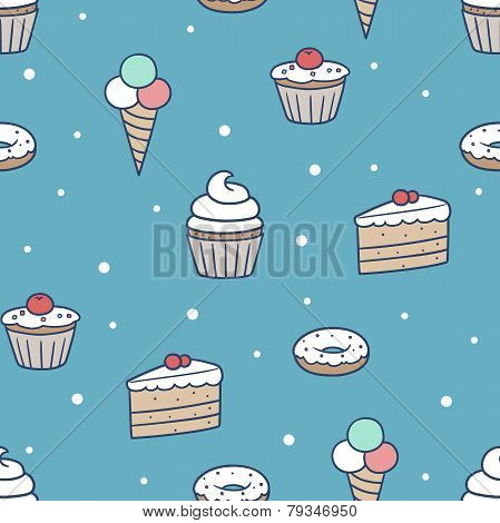 seamless confection pattern