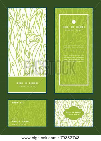 Vector abstract swirls texture vertical frame pattern invitation greeting, RSVP and thank you cards