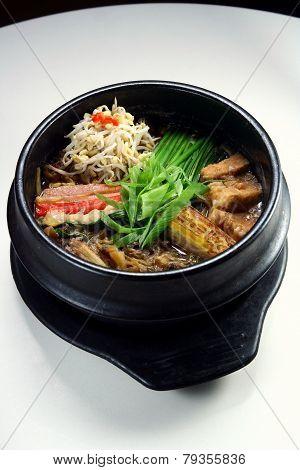 Ramen noodle soup. Asian food.