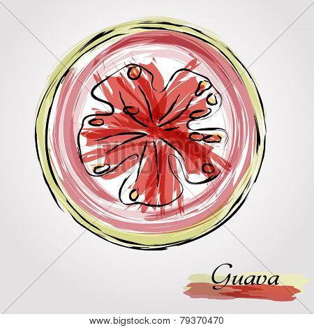 Guava fruit slice
