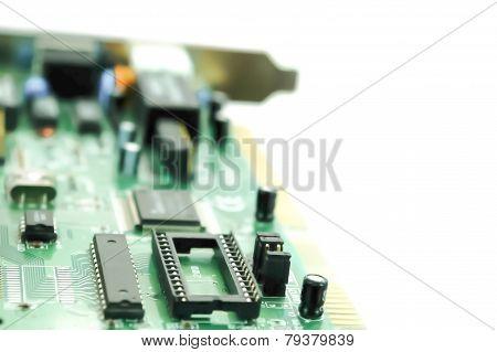 Computer Circuit Closeup