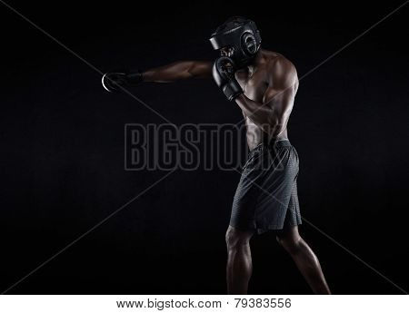 Young Boxer Exercising