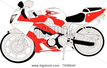 Crotch rocket motorcycle..Born to ride 1000cc bike...