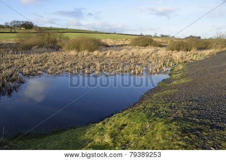Charterhouse Lead Mine Ponds Mendip Hills Somerset poster