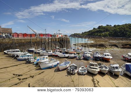 Boats at Rozel, Jersey