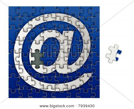Puzzle Email sign / Vector