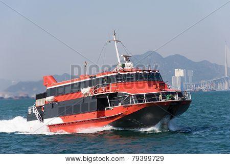 Jetfoil ferry in Hong Kong
