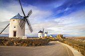 windmills of Don Quixote. Cosuegra, Spain poster
